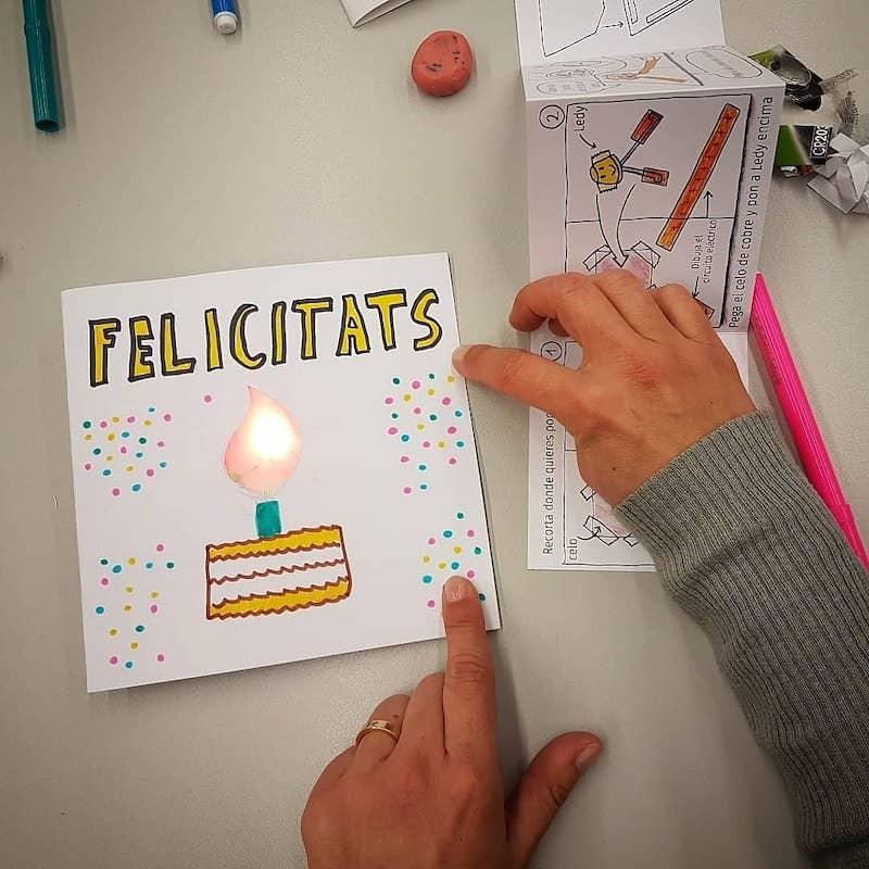 tarjeta celebración led