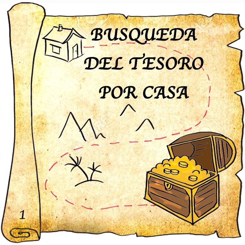 busqueda del tesoro por casa