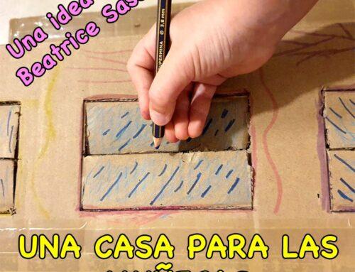 Casa de Muñecas hecha con Cartón #yomequedoencasa